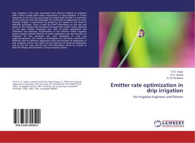 Emitter rate optimization in drip irrigation