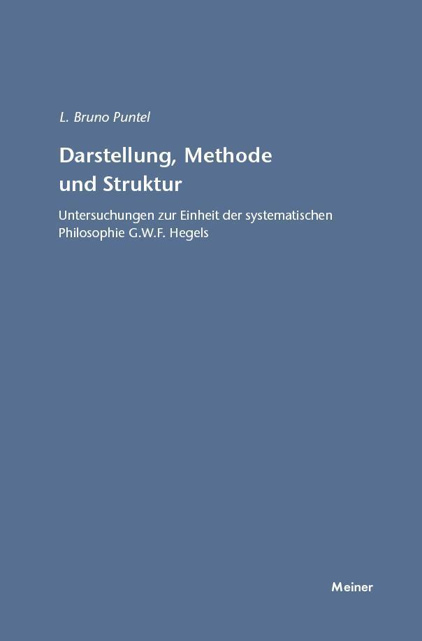 Darstellung, Methode und Struktur Lorenz B. Puntel