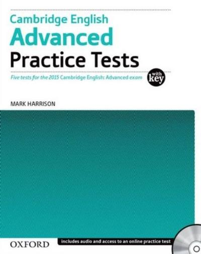 Cambridge English: Advanced Practice Tests: Tests With Key and Audio CD Pack