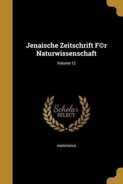 JENAISCHE ZEITSCHRIFT F(C)R NA