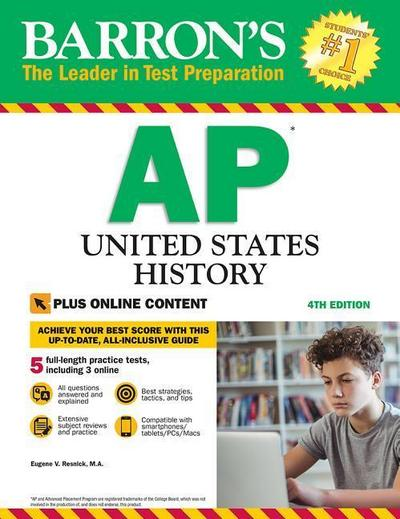 Barron's AP United States History, 4th Edition: With Bonus Online Tests