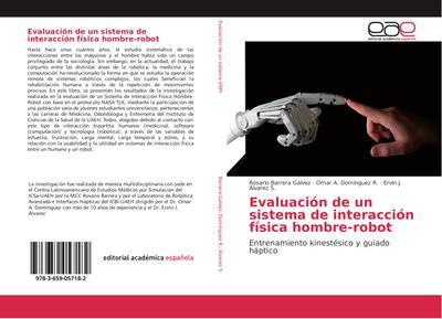 Evaluación de un sistema de interacción física hombre-robot