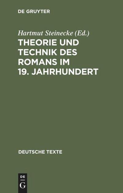 Theorie und Technik des Romans im 19. Jahrhundert