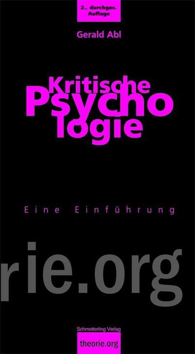 Kritische Psychologie: Eine Einführung ;