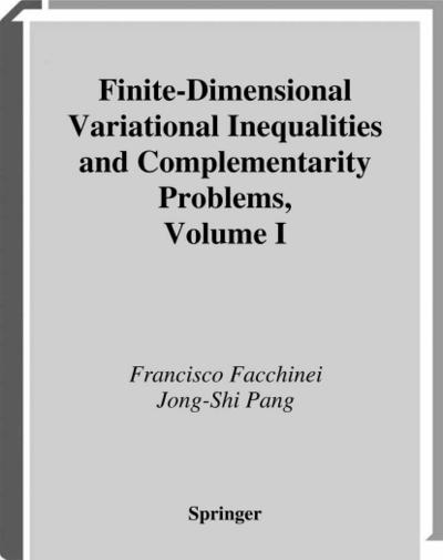 Finite-Dimensional Variational Inequalities and Complementarity Problems