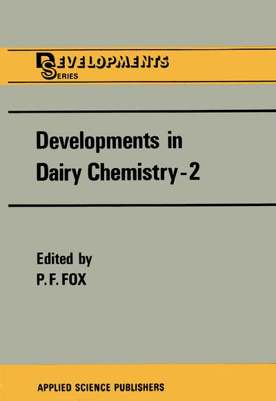 Developments in Dairy Chemistry-2