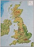 Relief Großbritanien 1:400.000