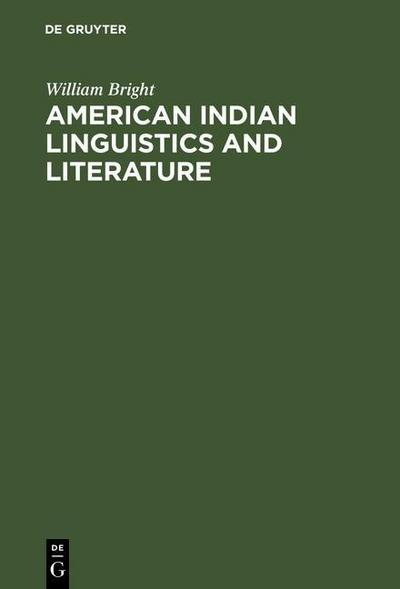 American Indian Linguistics and Literature