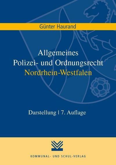 Allgemeines Polizei- und Ordnungsrecht Nordrhein-Westfalen