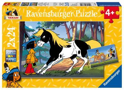 Ravensburger 08869 - Yakari und kleiner Donner - 2 x 24 Teile Puzzle