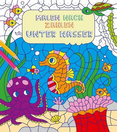 Malen nach Zahlen für Kinder: Unter Wasser