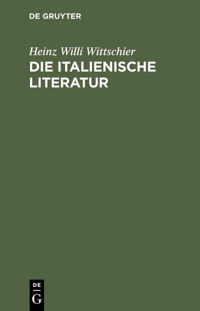 Die italienische Literatur