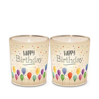 Windlicht 'Happy Birthday'
