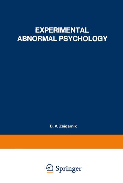 Experimental Abnormal Psychology