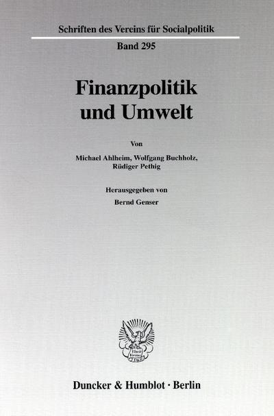 finanzpolitik-und-umwelt-schriften-des-vereins-fur-socialpolitik-