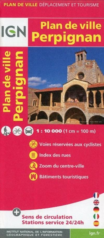 Perpignan Plan de Ville 1 : 10 000