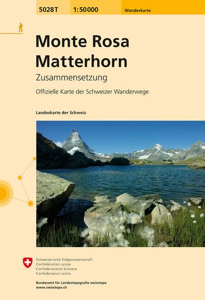 Swisstopo 1 : 50 000 Monte Rosa Matterhorn