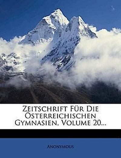 Zeitschrift für die österreichischen Gymnasien.