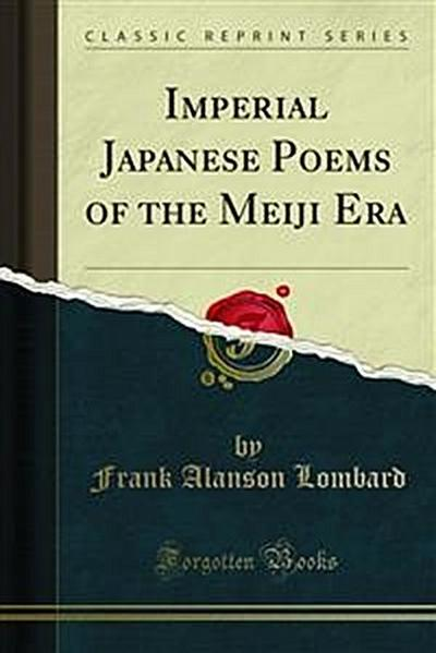 Imperial Japanese Poems of the Meiji Era