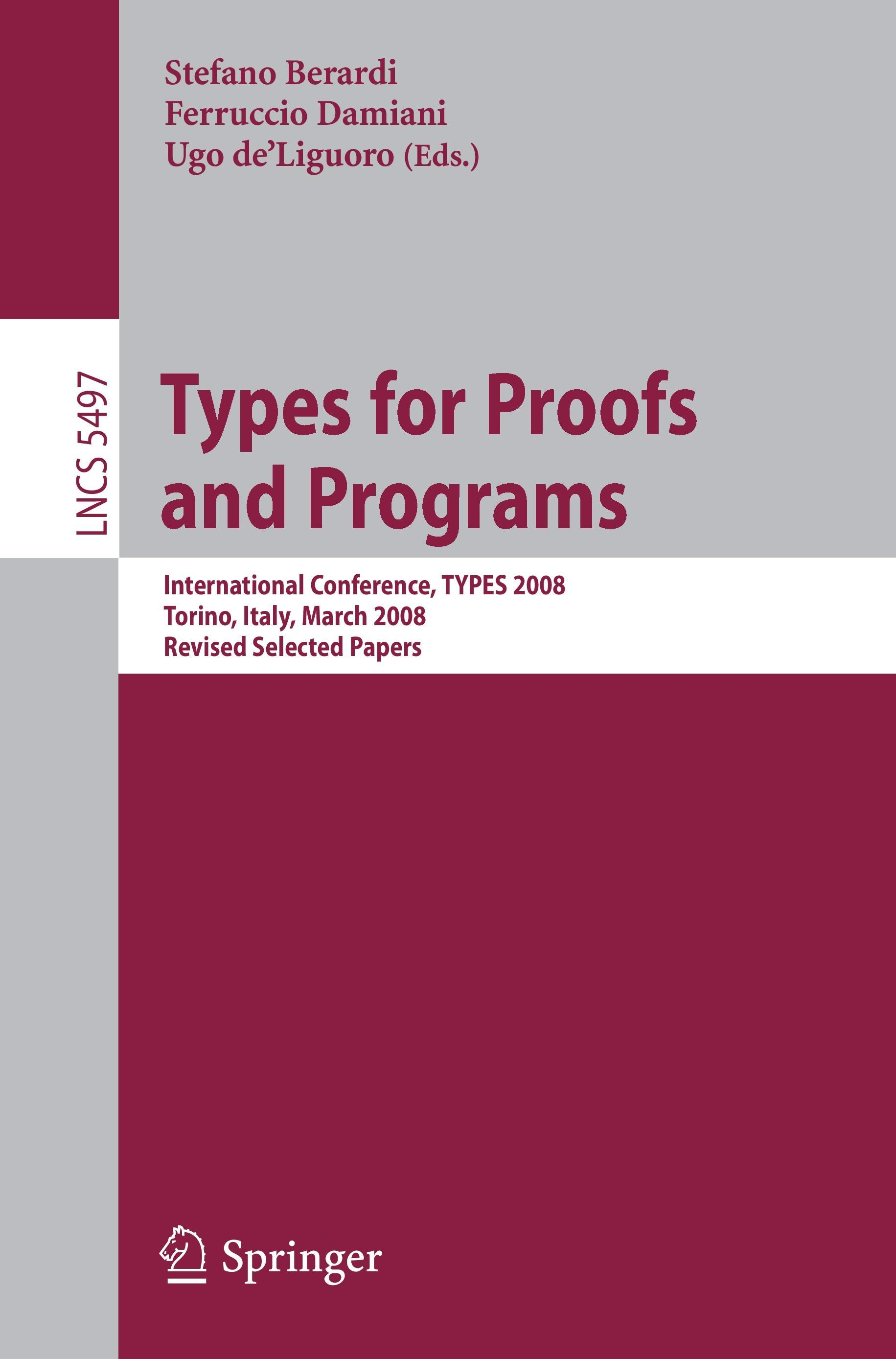 Types for Proofs and Programs, Stefano Berardi