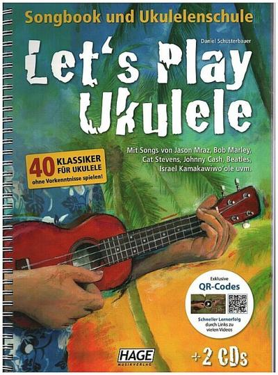 Let's Play Ukulele, m. DVD u. 2 Audio-CDs