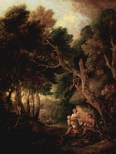 Thomas Gainsborough - Pfeiferauchender Bauer vor der Hüttentür - 200 Teile (Puzzle)