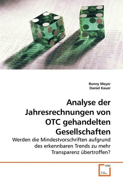 Analyse der Jahresrechnungen von OTC gehandelten Gesellschaften
