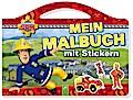 Feuerwehrmann Sam Mein Malbuch mit Stickern