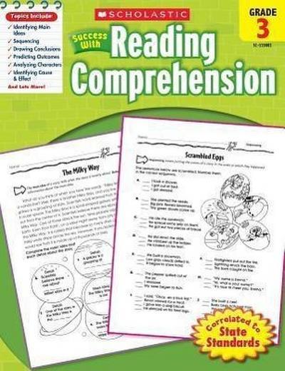 Scholastic Success with Reading Comprehension, Grade 3