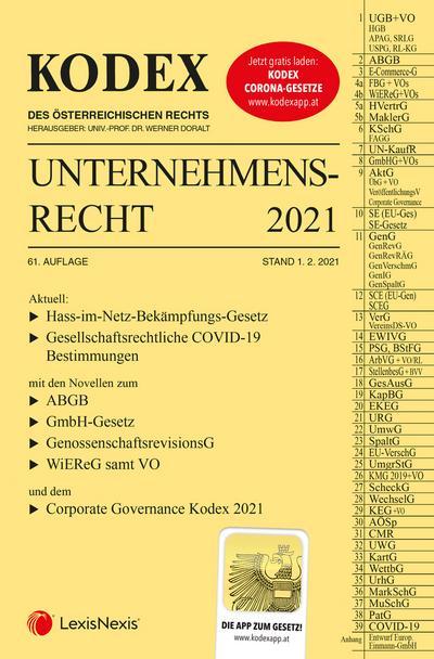 KODEX Unternehmensrecht 2021