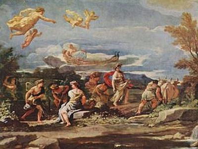 Luca Giordano - Szenen aus der Mythologie: Vertumnus und Pomona - 100 Teile (Puzzle)
