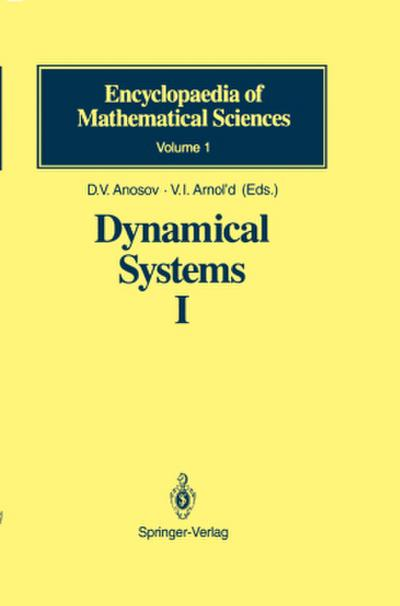 Dynamical Systems. Vol.1