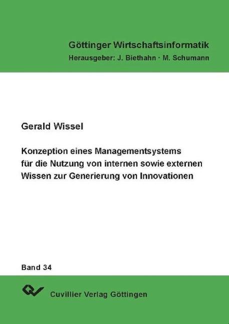 Konzeption eines Managementsystems für die Nutzung von inter ... 9783898731942
