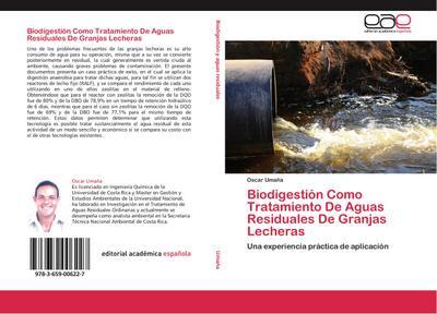 Biodigestión Como Tratamiento De Aguas Residuales De Granjas Lecheras