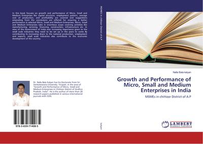 Growth and Performance of Micro, Small and Medium Enterprises in India