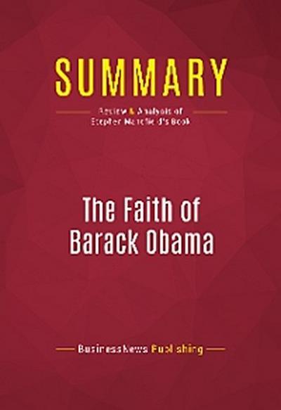 Summary: The Faith of Barack Obama