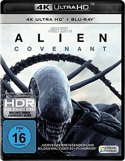 Alien: Covenant 4K, 1 UHD-Blu-ray