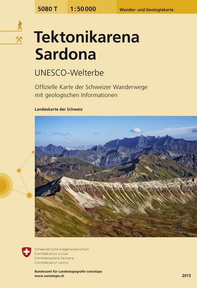 Swisstopo 1 : 50 000 Tektonikarena Sardona