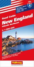 Hallwag USA Road Guide 04 New England 1 : 1.000.000