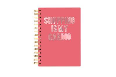 Hard Bound Journal: Shopping is my Cardio - Hardcover-Notizbuch mit stabiler Ringbindung: Shoppen ist mein Ausdauersport