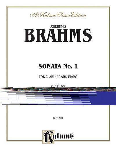 Sonata No. 1 in F Minor, Op. 120: Part(s)