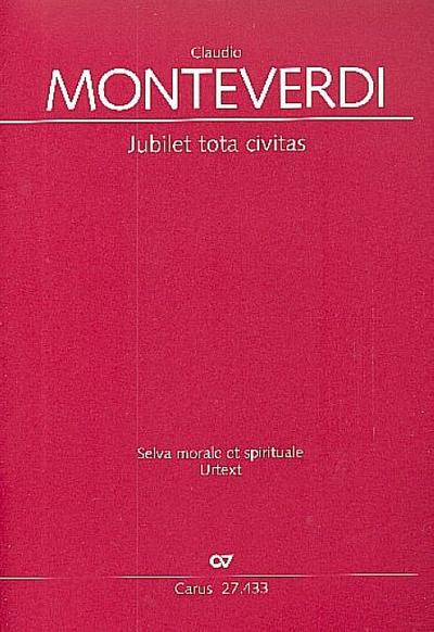 Jubilet tota civitasfür Sopran und Bc