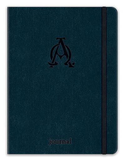 Alpha and Omega Essential Journal (Navy Leatherluxe)
