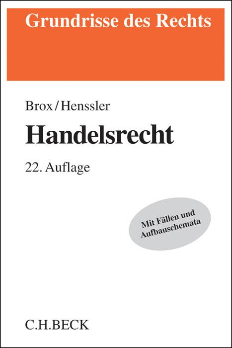 Handelsrecht Hans Brox