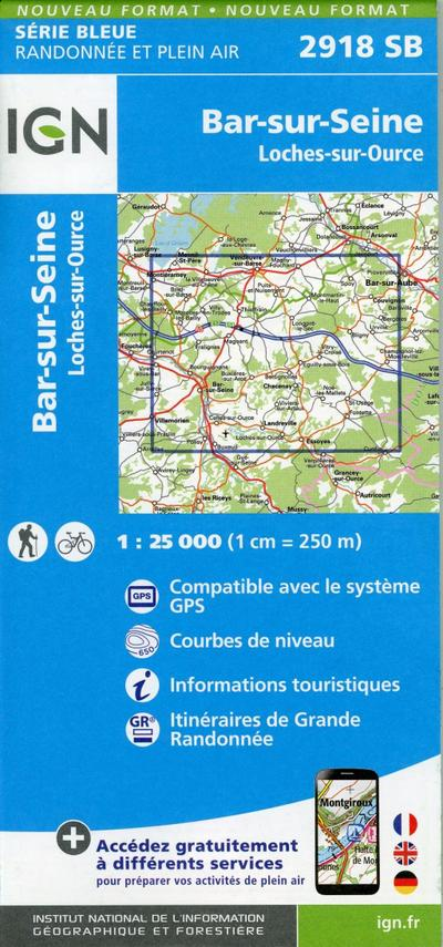 Bar-sur-Seine.Loches-sur-Ource 1:25 000