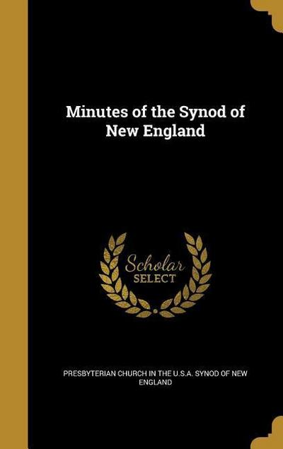 MINUTES OF THE SYNOD OF NEW EN