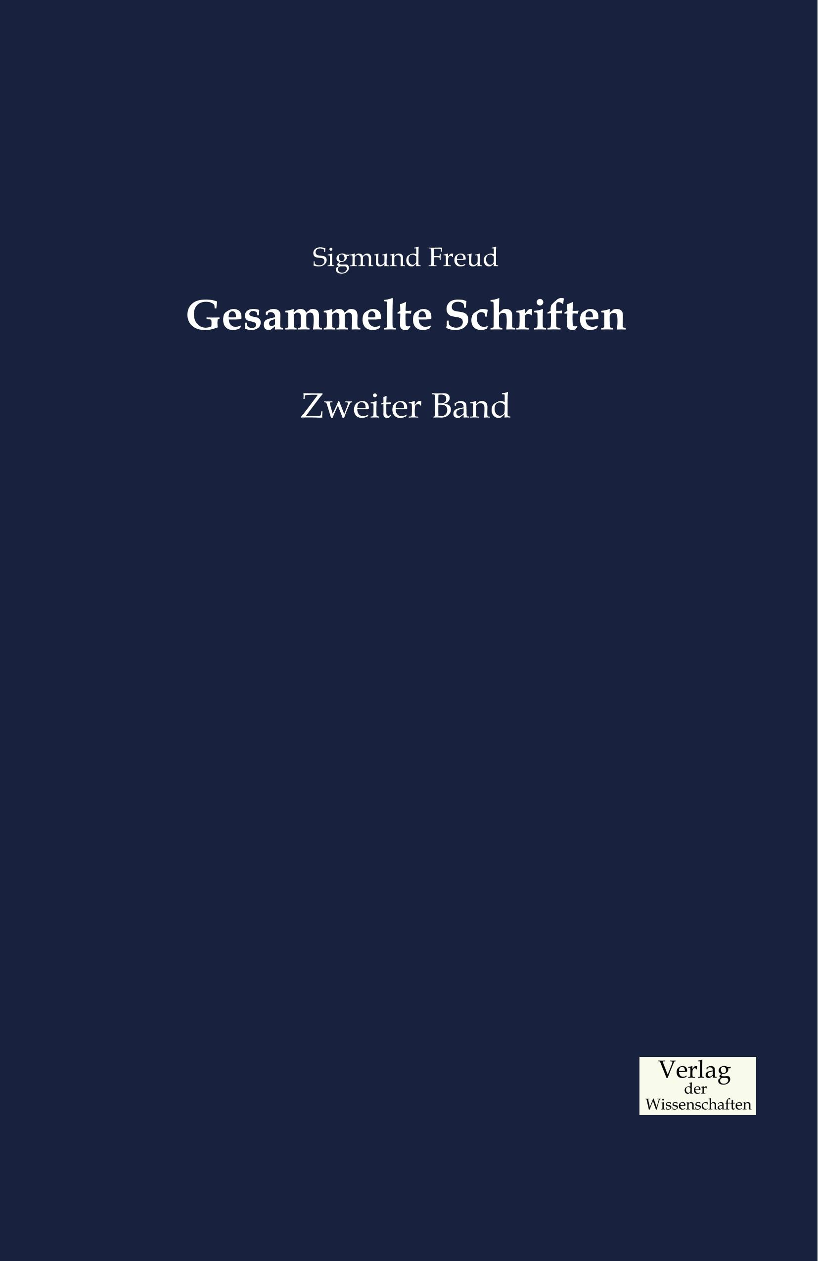 Gesammelte Schriften Sigmund Freud