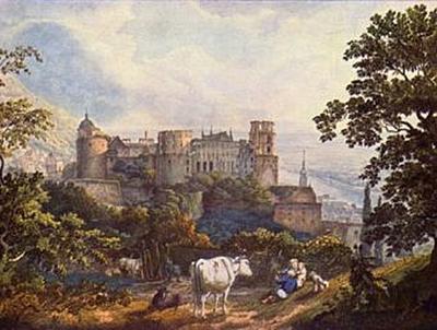 Carl Philipp Fohr - Das Heidelberger Schloß - 200 Teile (Puzzle)