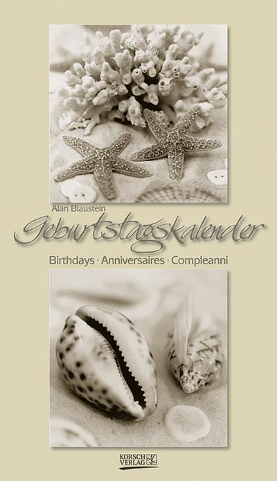 Geburtstagskalender 'Strandschätze'