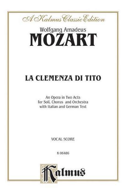La Clemenza Di Tito: Vocal Score (German, Italian Language Edition), Vocal Score
